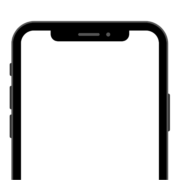 The screen of a mobile phone