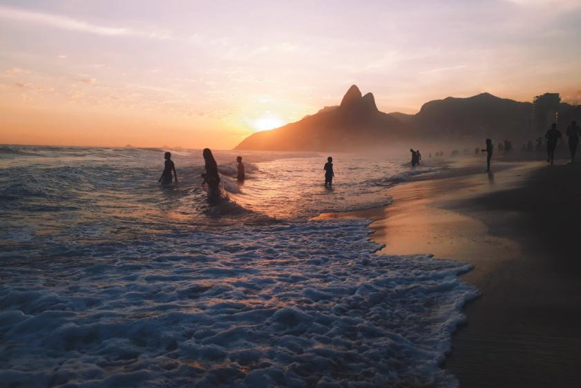 Het strand in Ipanema, Rio de Janeiro, Brazilië