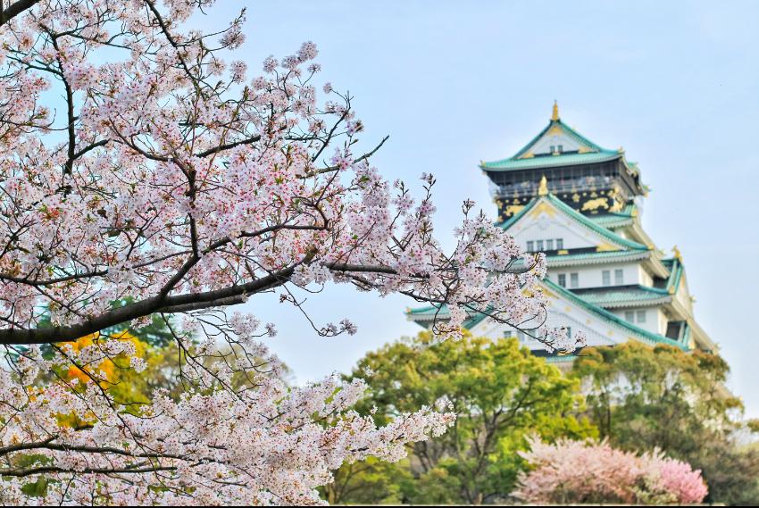Parque do Castelo de Osaka em Osaka, Japão