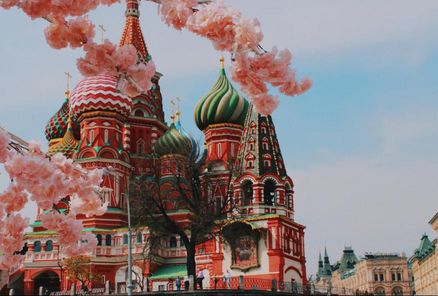 Catedral de São Basílio na Praça Vermelha em Moscou, Rússia