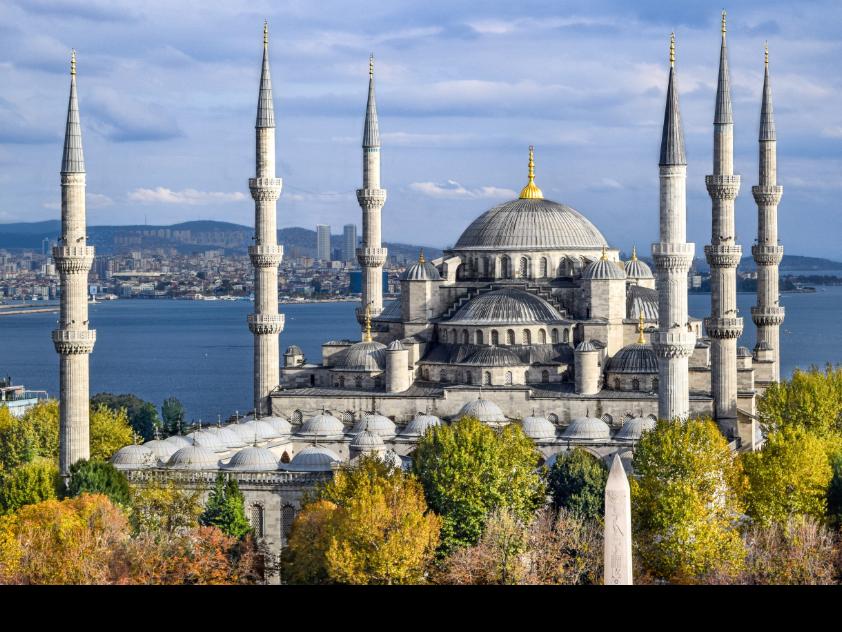 De Blauwe Moskee in Istanbul, Turkije