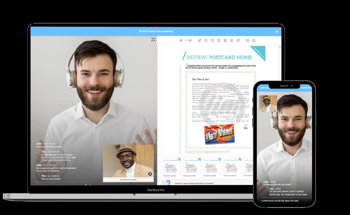 LIM Lessons virtual classroom